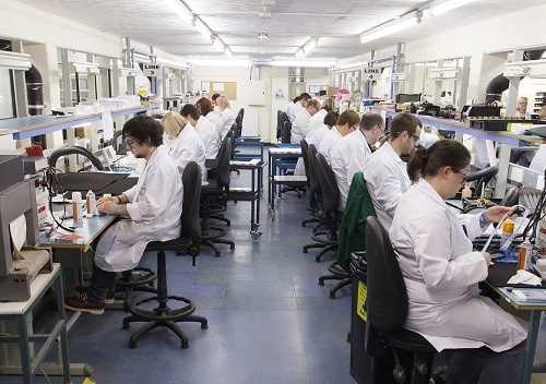 Inside the battery manufacturing factory