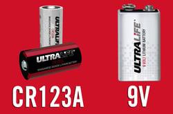 Smoke Alarm Batteries - CR123A and 9V