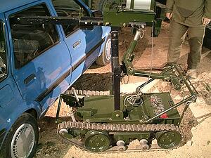 Wheelbarrow Bomb Disposal Robot